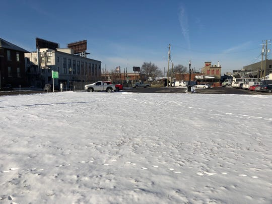 An empty lot and city-owned parking lot are pictured Feb. 28, 2019 northwest of Nine Mile Road and Bermuda Street in Ferndale. Baker College has proposed the properties as a location for a Ferndale campus.