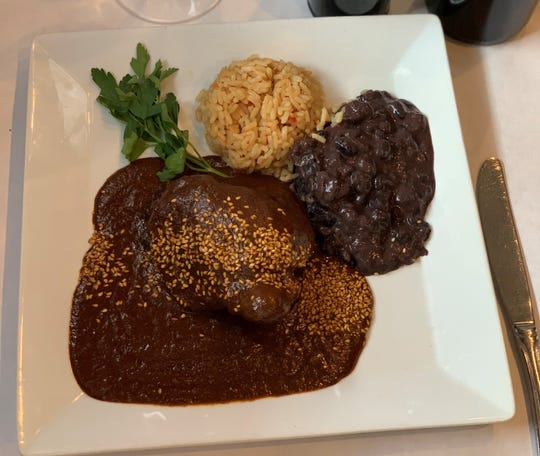Mole poblano at El Barzon in Detroit.