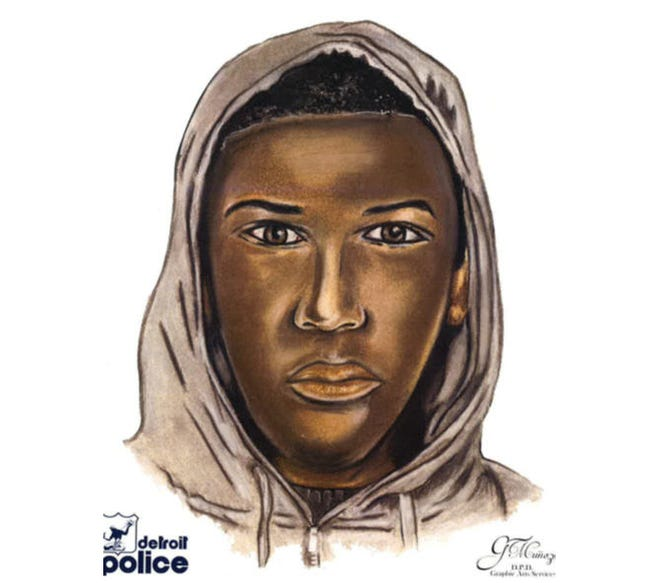 The Detroit Police sketch of the suspect.