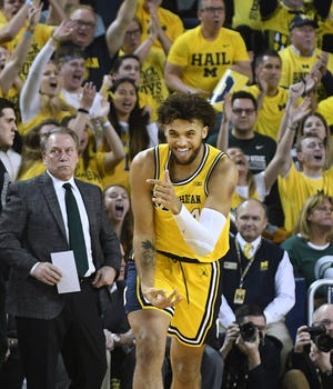 Isaiah Livers is Michigan's leading 3-point shooter.