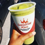 Vegan Pineapple Spinach Smoothie from Smoothie King. The Dallas-based juice bar is opening 50 locations in Michigan.