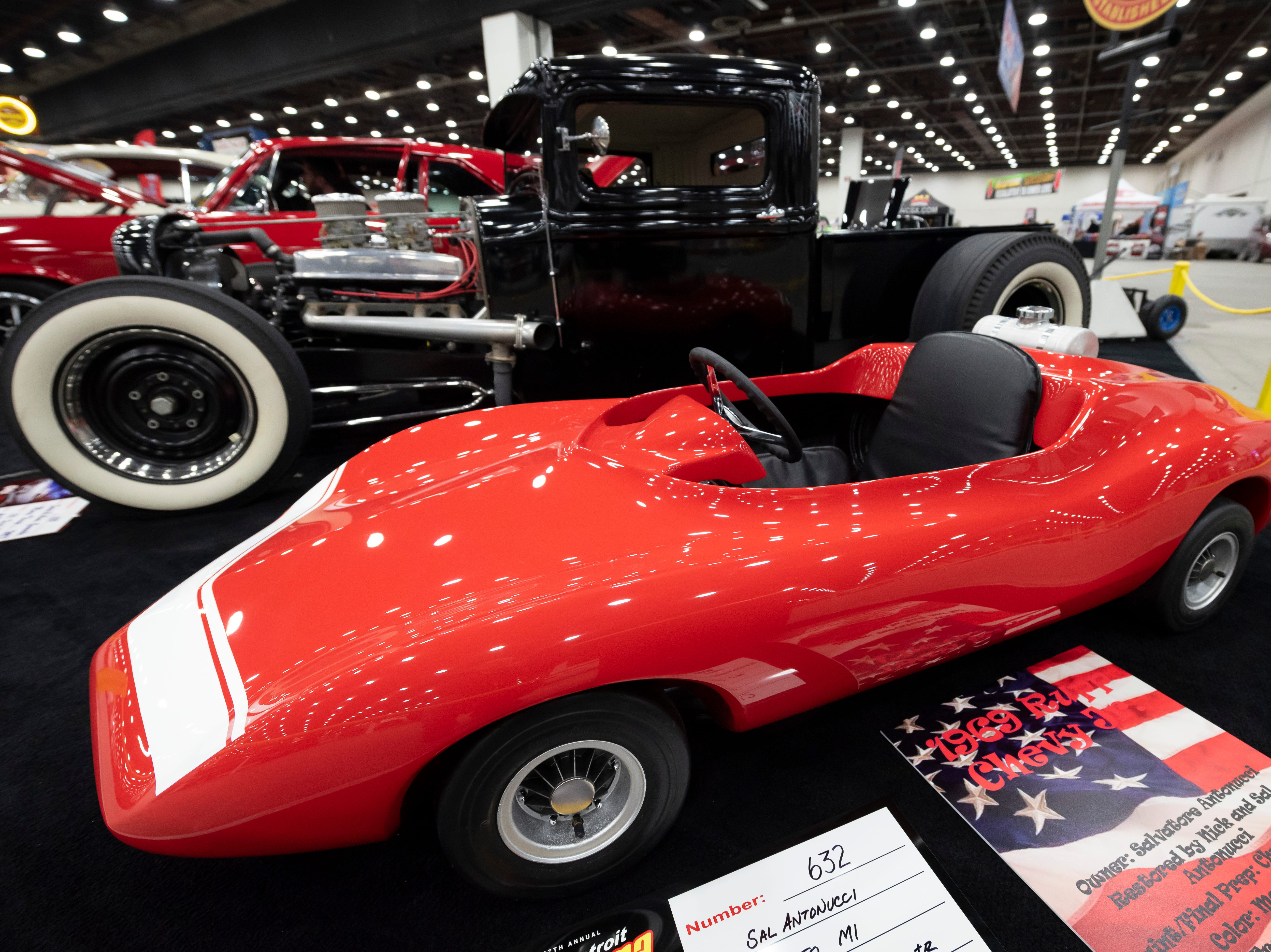 A 1969 Rupp Chevy Jr. owned by Sal Antonucci, of Romeo.