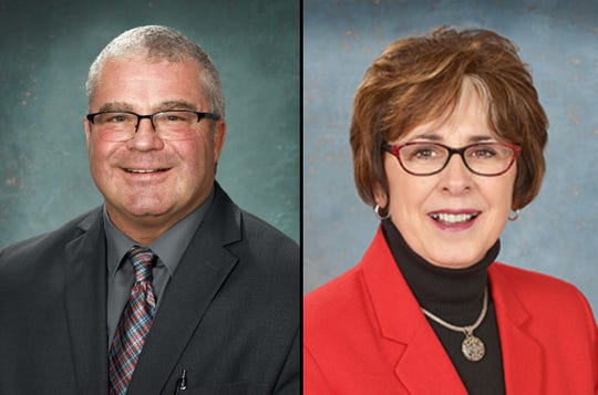 Sen. Rick Outman, R-Six Lakes, and former Sen. Judy Emmons, R-Sheridan