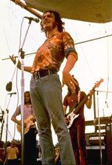 Joe Cocker performs during the Woodstock Music Festival in Bethel, N.Y., in this Aug. 1969 file photo.