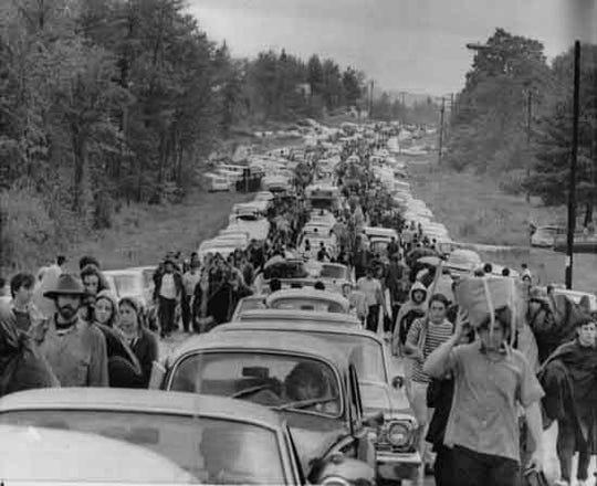 Woodstock Music Festival in Bethel, N.Y., Aug. 1969 file photo.