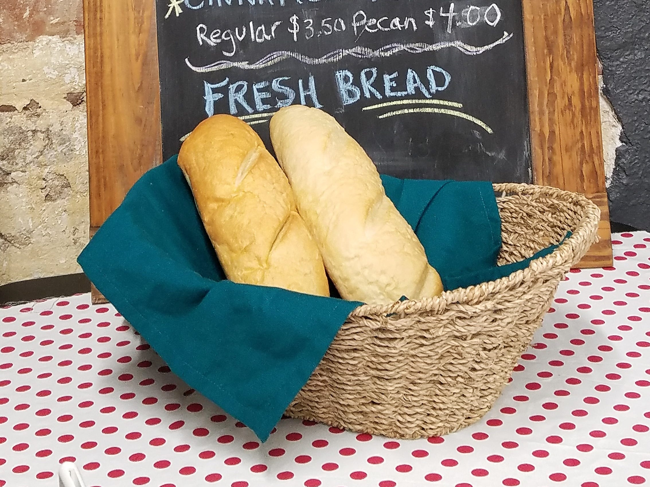 Look for Italian bread and New Harmony's own Rappite rolls at Capers Emporium bakery.