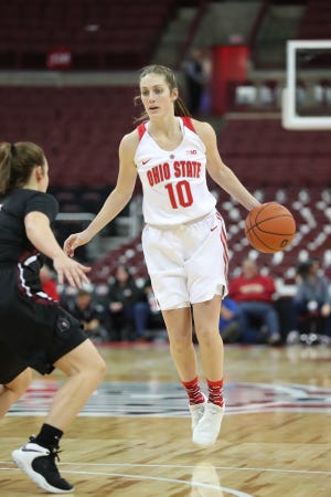 Bellevue's Carly Santoro finishes her career at Ohio State as a grad transfer after three years at Bowling Green State University.