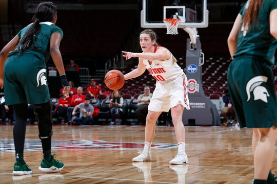 Bellevue's Carly Santoro continued to grow as a leader for Ohio State.
