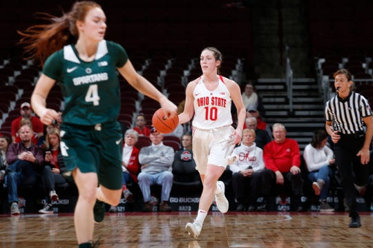 Bellevue's Carly Santoro was one of eight newcomers for Ohio State this season.