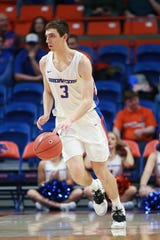 Boise State Broncos guard Justinian Jessup, shown in a game last season, had 27 points to help beat CSU on Saturday night.