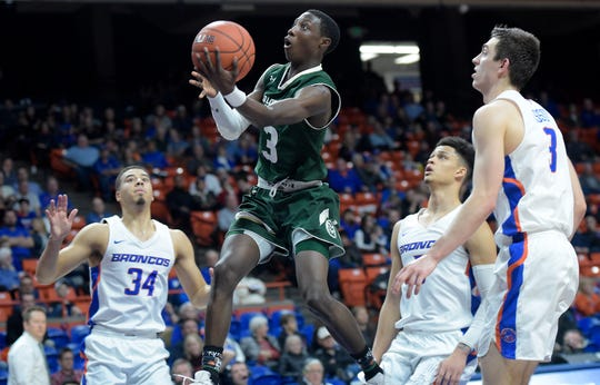The Boise State and Colorado State men's basketball teams will meet for the third time this season when they play in the first round of the Mountain West tournament on Wednesday.