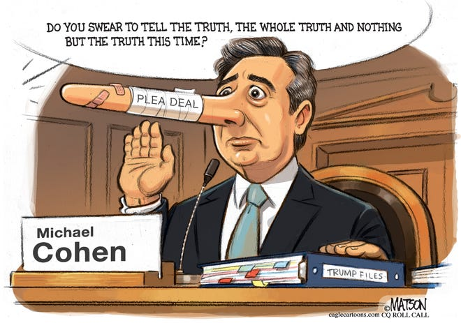 Michael Cohen commentary from RJ Matson, CQ Roll Call