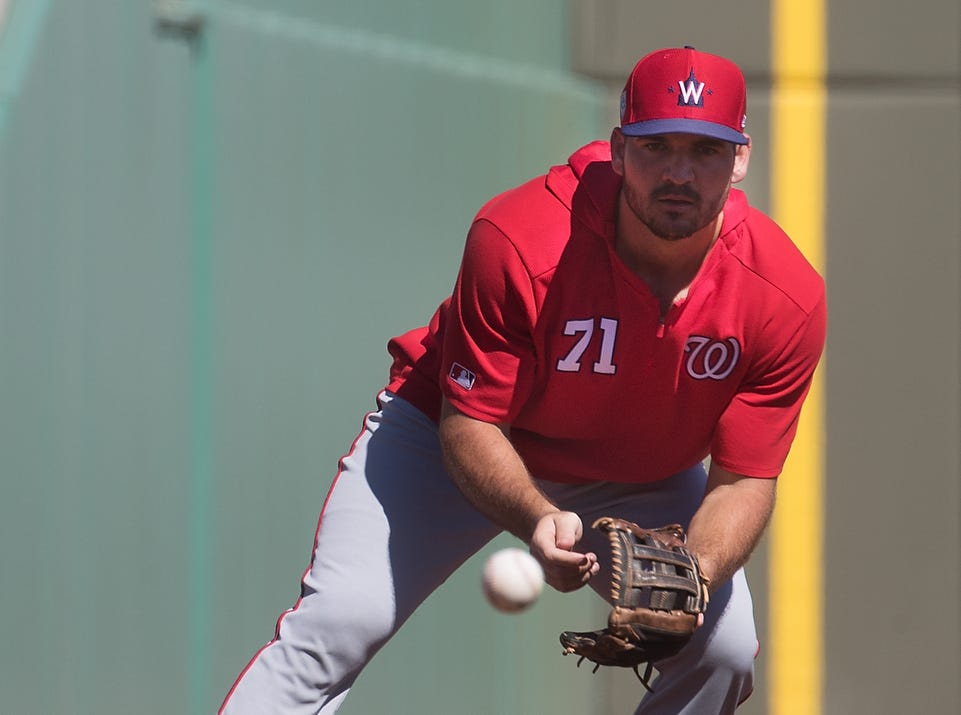 Charlotte High School graduate and former FGCU baseball player Jake Noll is playing for the Washington Nationals. He got a chance to play at JetBlue Park on Thursday against the Boston Red Sox during a spring training game and started at third base. He hit a double off the green monster in left field along with drawing a walk.