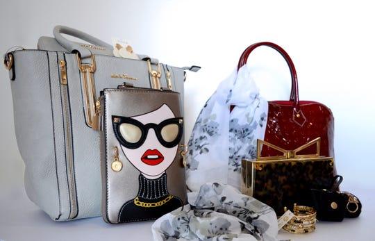 """Art of the Handbag"" lets people bid on artful handbags like these at the Center for Performing Arts Bonita Springs."
