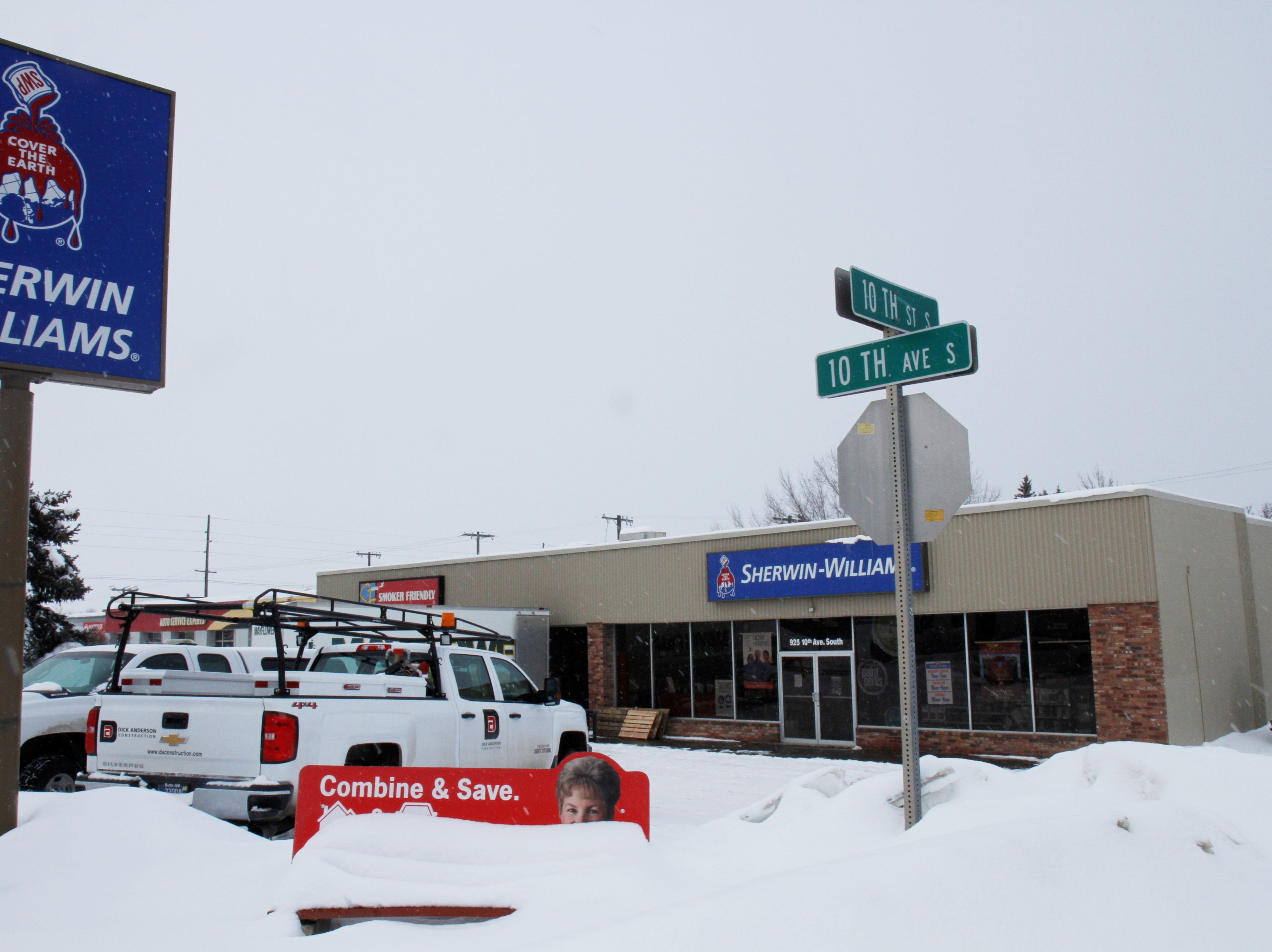 Great Falls Fire Rescue responded to the Sherwin-Williams store on 10th Avenue South for a partial roof collapse around 11 a.m.