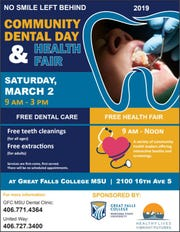 The Community Dental Day and Health Fair is free and open to the public   and services are first-come, first-serve.