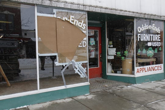 The awning of the store has been removed and will be replaced as soon as possible to prevent wood furniture damage.