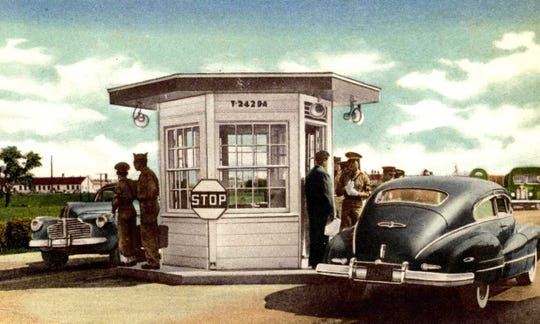 Illustration of MP checkpoint at Camp Breckinridge.