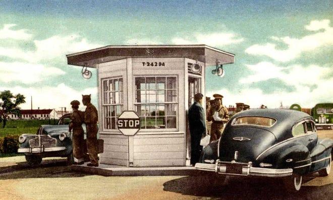 Illustration of MP checkpoint at Camp Breckinridge.