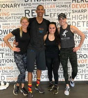"""""""Talk about a boss workout,"""" Reggie Miller said after taking a class at the Carmel Shred415 studio."""