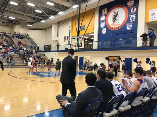 High school basketball sectional action at Crawfordsville High School. Feb. 27, 2019