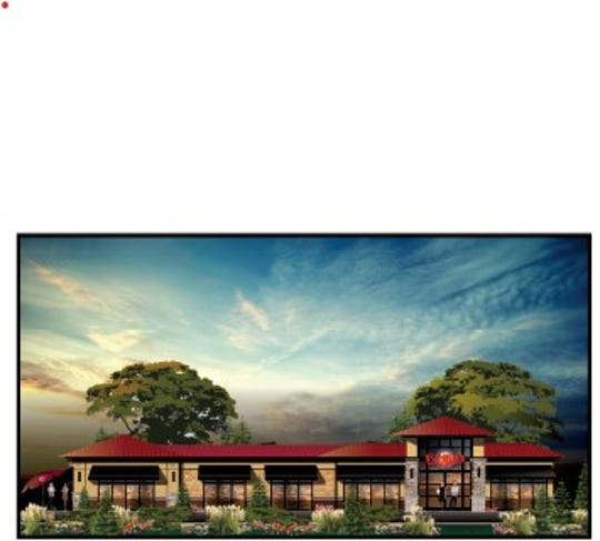 An illustration of Sunrise Bakery's planned location in Fishers.