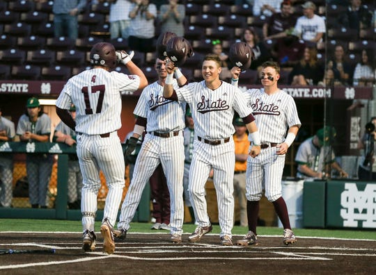Mississippi State sophomore third baseman Justin Foscue smashed his fourth home run of the season against Southeastern Louisiana on Wednesday night. The shot was a grand slam to left.