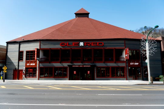 The exterior of country music singer Blake Shelton's Ole Red restaurant in Gatlinburg, Tennessee on Wednesday, February 27, 2019. The $9 million venue, which features food, drink and live musical performances on a fully-outfitted stage, will have a soft opening March 4.