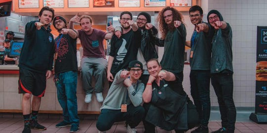 Bands Makena and Capital Vices played a show inside a Knoxville Wendy's on Tuesday, Feb. 26, 2019.