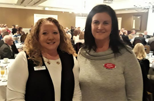 Raeshell Maples was with sponsor Vanessa Brown during the presentation of a $500 scholarship from the Chamber.  Maples interned at Brown's insurance agency.