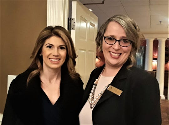 "Introduced by FWKCC President/CEO Julie Blaylock, right, WVLT news anchor Amanda Hara moderated the Breakfast Speaker Series, ""Active Shooter Scenarios"" at Fox Den Country Club on February 26."
