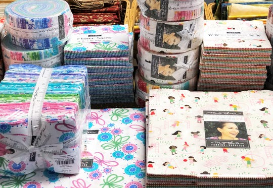 In addition to selling sewing machines, Sew 'N Vac offers machine trade-ins, carries embroidery thread, needles and a limited amount of fabric – by the yard and precuts.