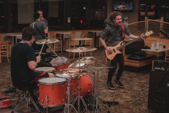 Bands Makena and Capital Vices played a show inside a Knoxville Wendy's on Feb. 26, 2019.
