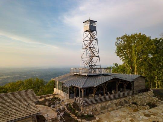 Firetower restaurant, located atop Blackberry Mountain luxury resort in Walland, Tennessee.