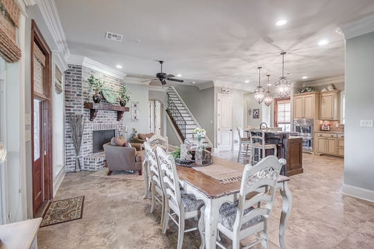 There are plenty of dining spaces for all types of entertaining.