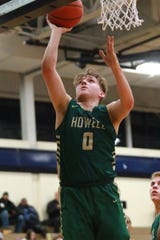 Josh Palo had 21 points and seven assists for Howell in a 64-44 victory over Hartland in a Division 1 district semifinal.