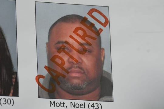 Noel Mott was one of the high-profile suspects captured early Thursday morning.