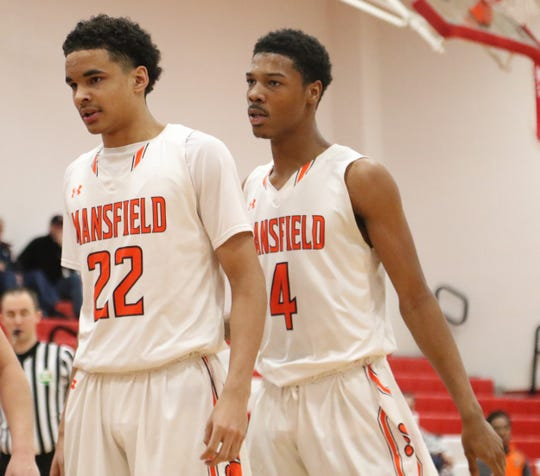Mansfield Senior's Jakobe Reese (22) and Dontavious Burtin (4) give the Tygers two dominating rebounders who can control any game.