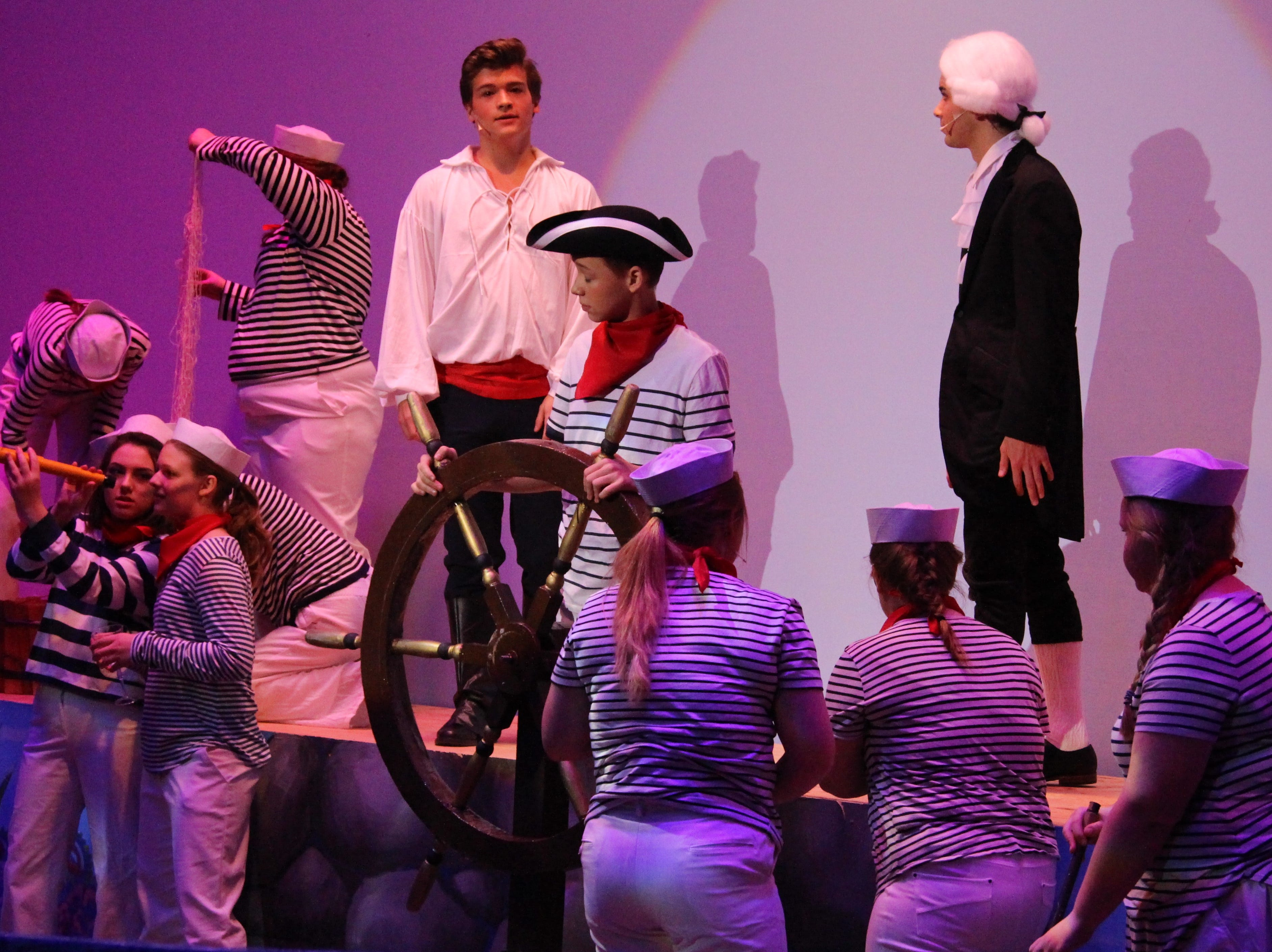 "Senior Jaydon Etgen, who plays human and Ariel's love interest Prince Eric, takes a voyage across the sea in Ridgedale's production of Disney's ""The Little Mermaid."""