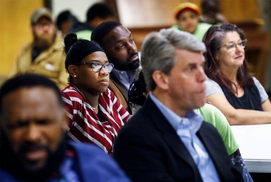 Community members attend the Frasyer Exchange Club luncheon to hear Memphis Mayor Jim Strickland speak.