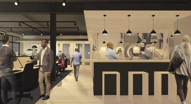 The Legacy Building will include co-working space, as well as a coffee shop.