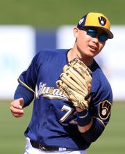 Second baseman Keston Hiura has been impressive hitting to right field with Class AAA San Antonio this season.