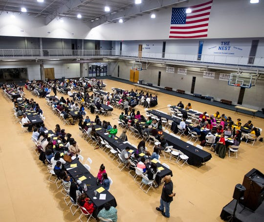 A Youth Forum is held at Faulkner University in Montgomery, Ala., on Thursday February 28, 2019.