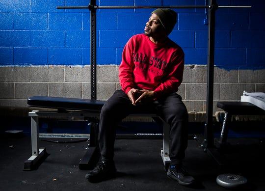 Hip hop artist Chris Mack at the Muncie Boys and Girls Club.