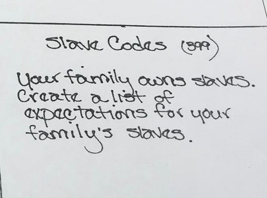 Williamson County Schools in Tennessee has apologized for this homework assignment at Sunset Middle School.
