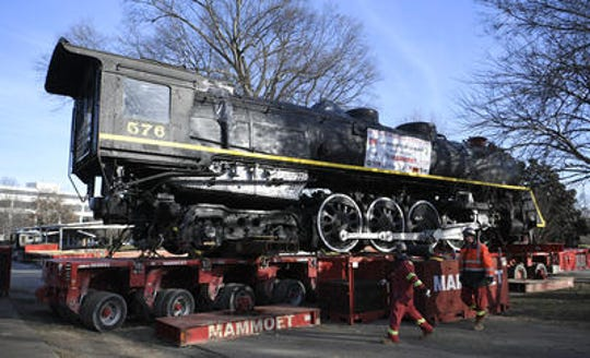 Steam locomotive No. 576 was recently moved from Centennial Park in Nashville, where it was displayed for 65 years.