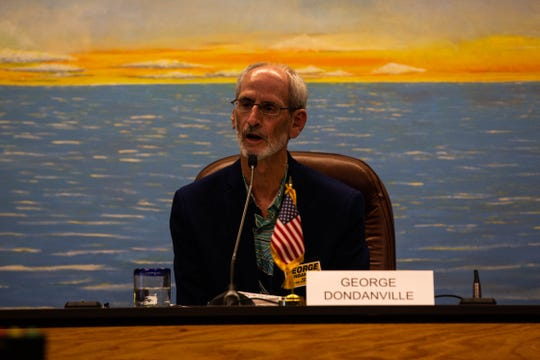 George Dondanville speaks at a public forum for the Naples City Council candidates at Naples City Hall on Wednesday, Feb. 27, 2019. Dondanville served on the city's Community Services Advisory Board for eight years.