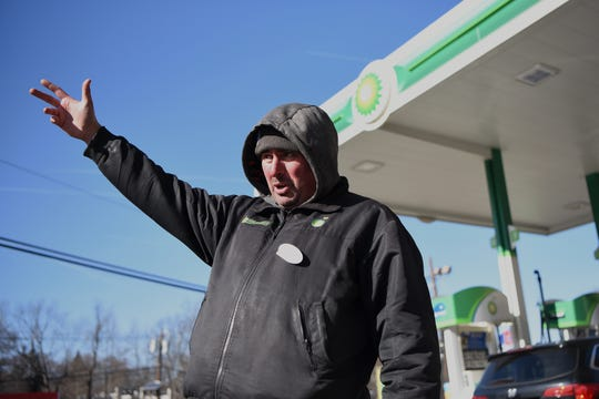 Emre Akyuz a gas attendant at BP on Route 4 West in Fort Lee, shown on Thursday February 28, 2019.