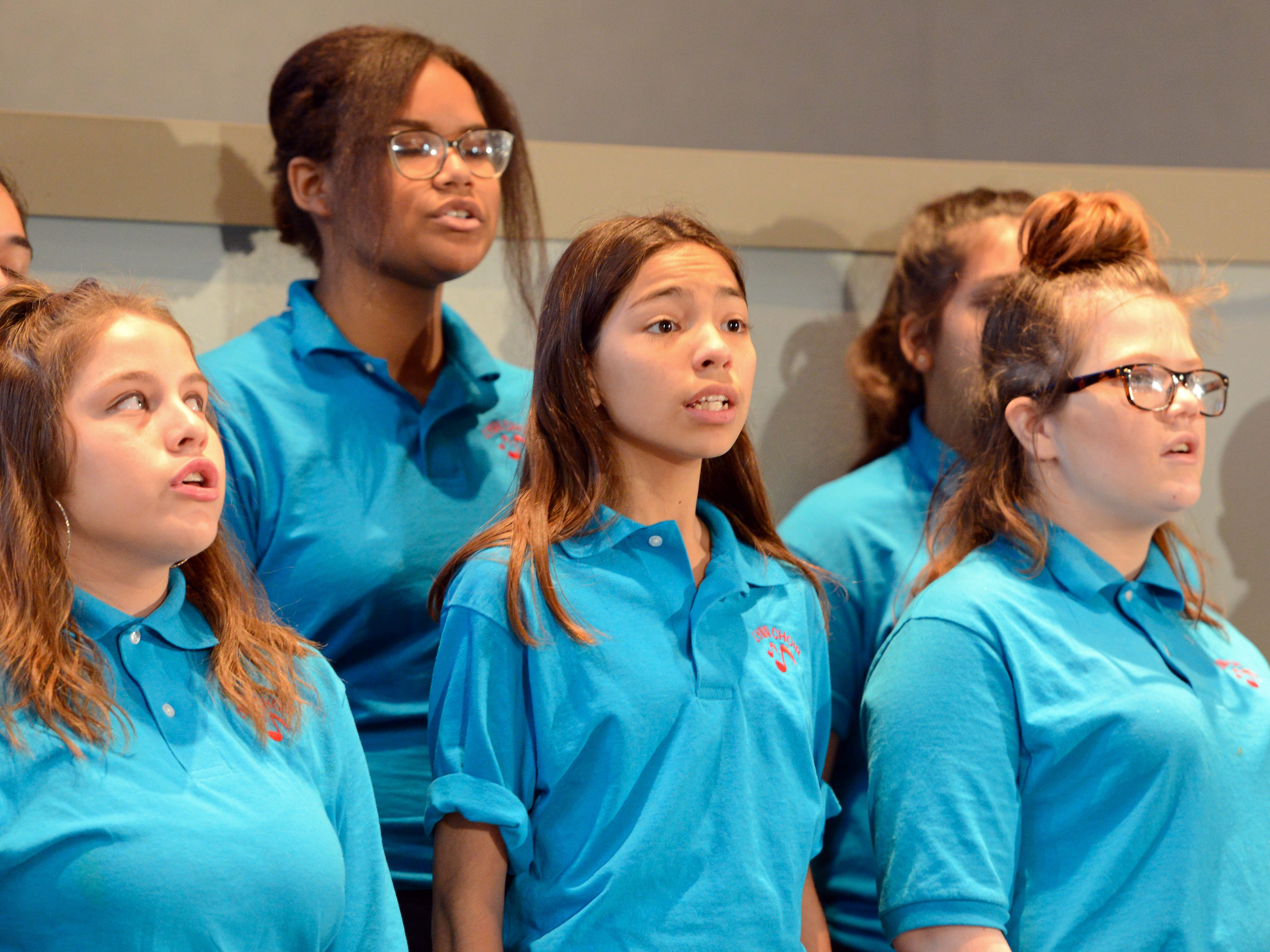 "The Lynn Middle School choir sings before Mayor Ken Miyagishima's ""State of the City"" address on Thursday, Feb. 28, 2019."