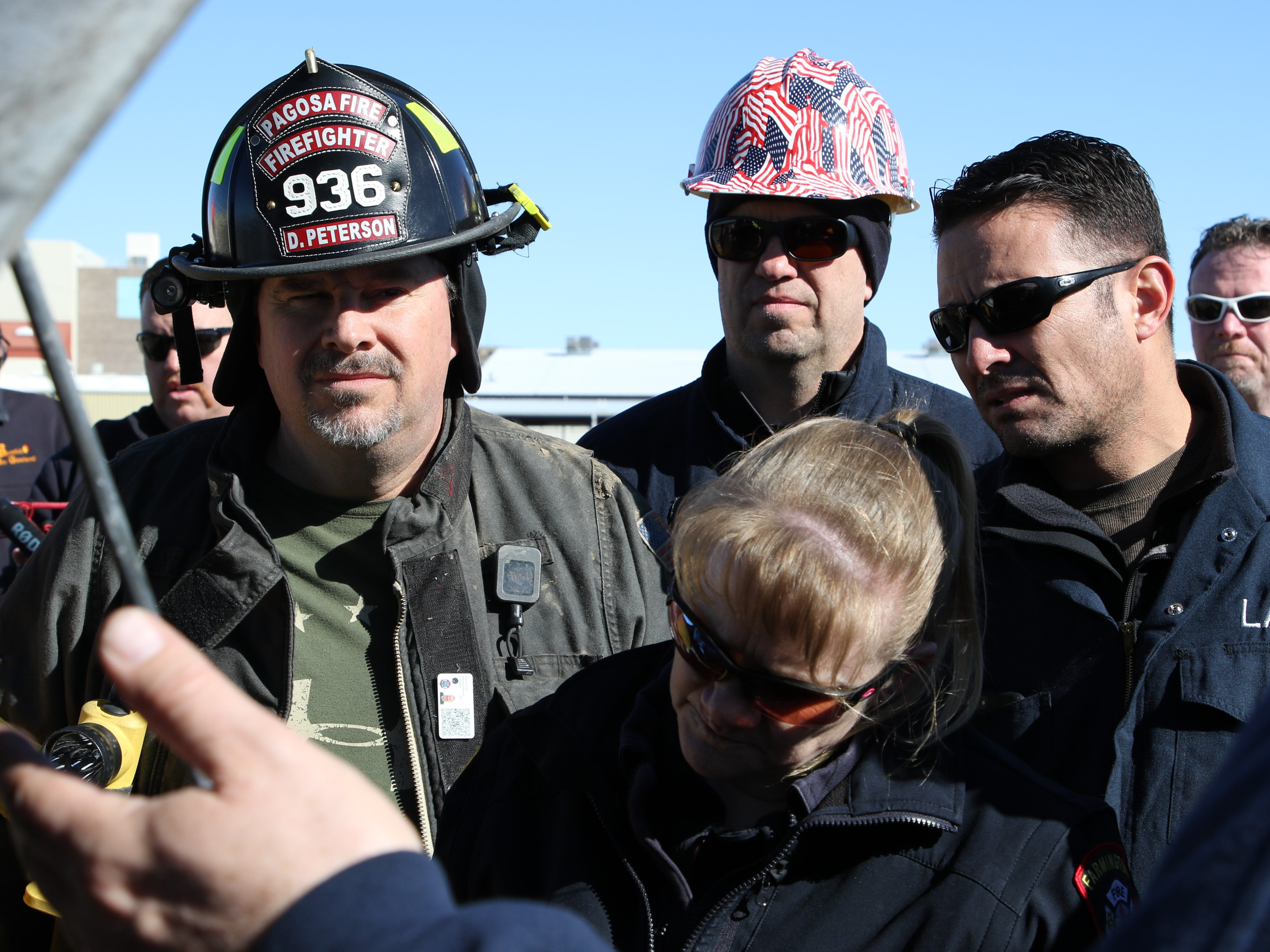 Pagosa Springs Fire Protection District firefighter Don Peterson, left, attended the class to advance his fire investigation skills.